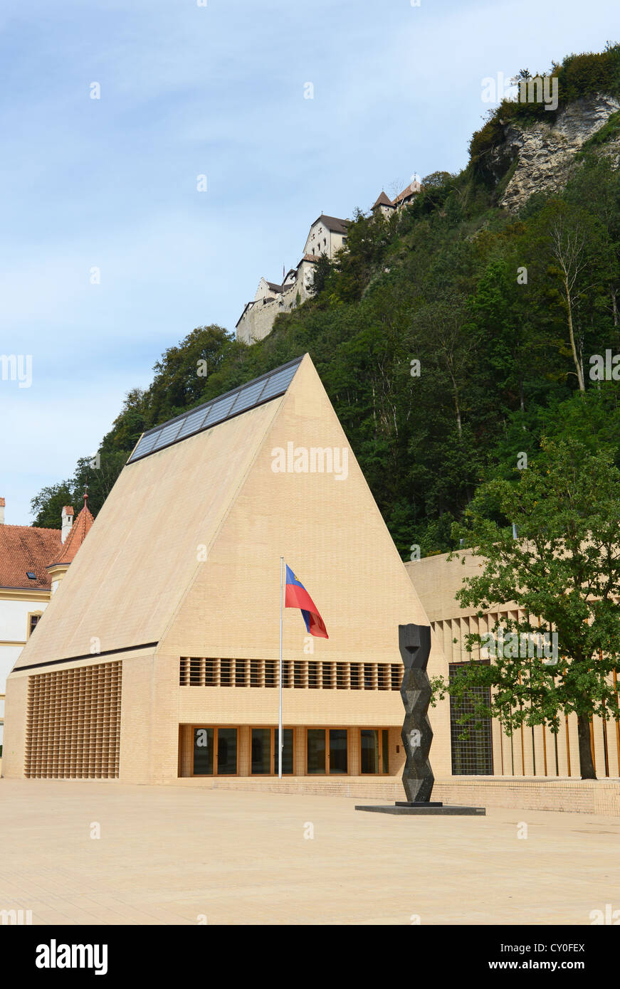 Liechtenstein Landtag at Vaduz - Stock Image