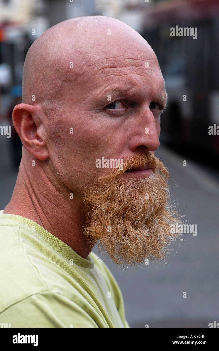 Moustache, Personage, Man, Salzburg,  Austria,  Europe - Stock Image