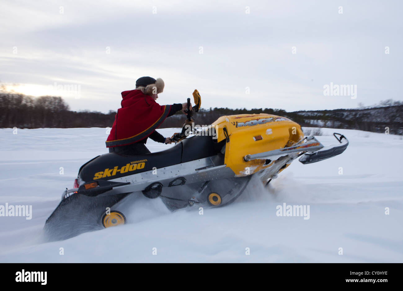 ice fishing in Finland - Stock Image