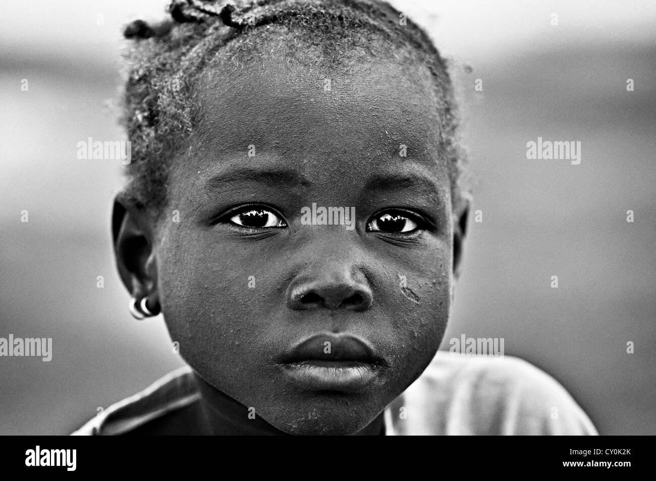 Portrait of a burkinabe girl. Burkina Faso - Stock Image