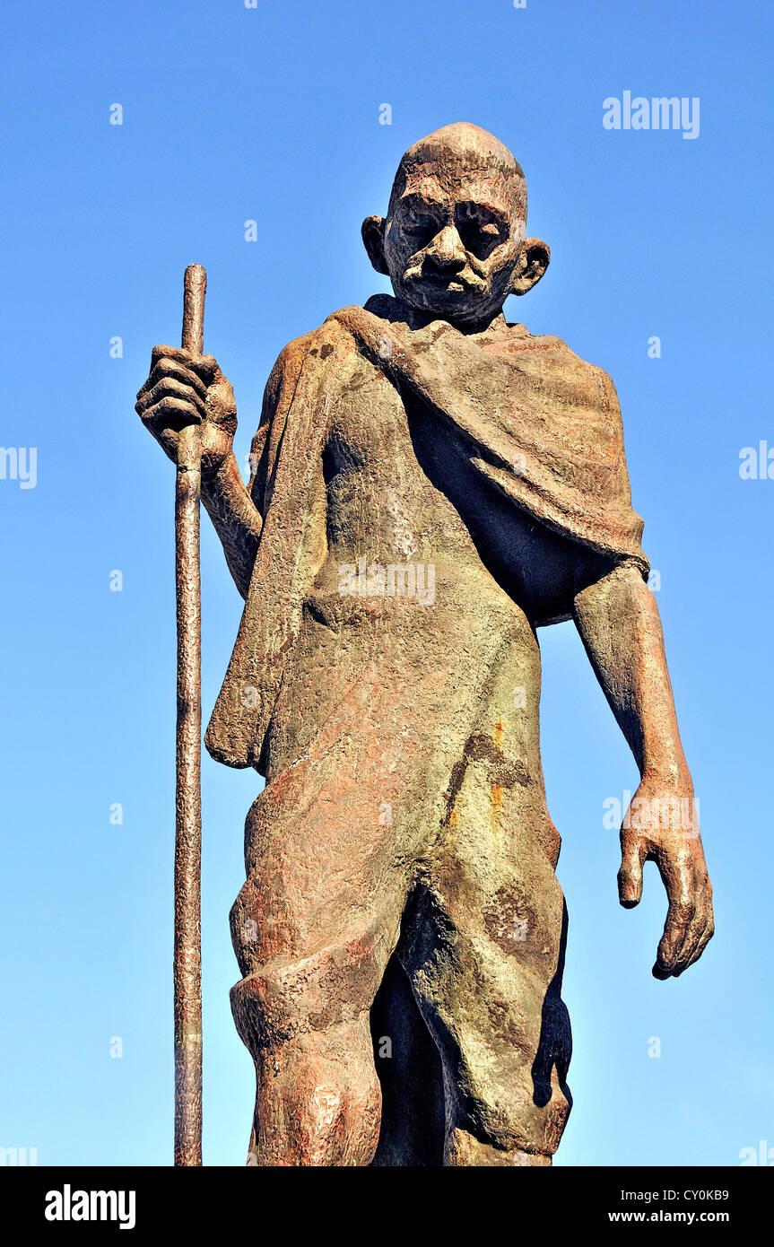 Mahatma Gandhi statue Rio de Janeito Brazil South America - Stock Image