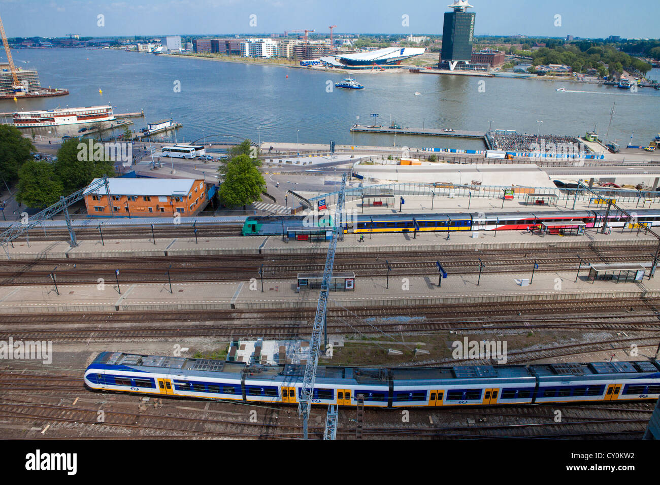 Amsterdam train station - Stock Image