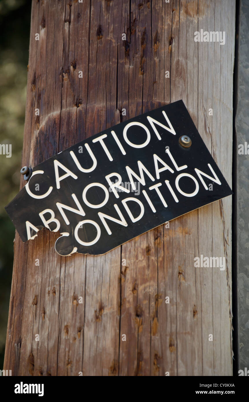 Abnormal Condition Sign - Stock Image