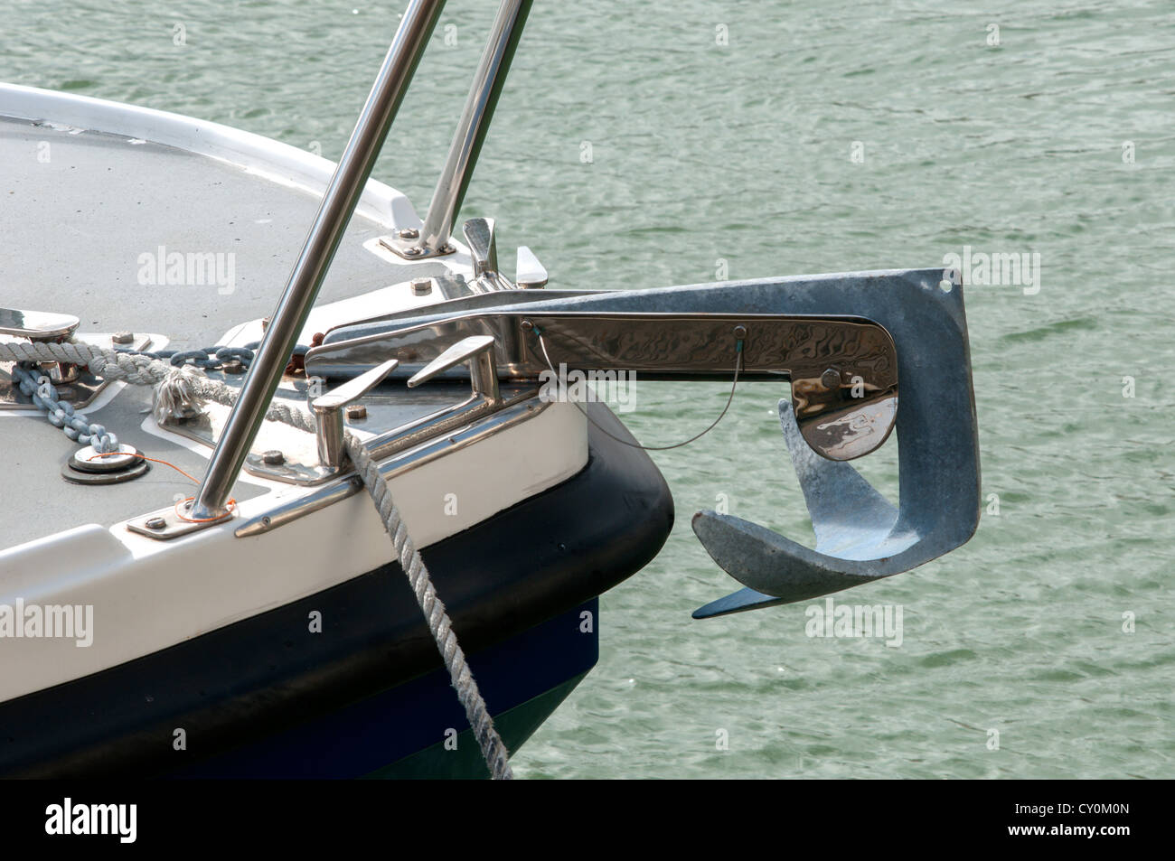 White Metal Boat Fittings Barge Anchor