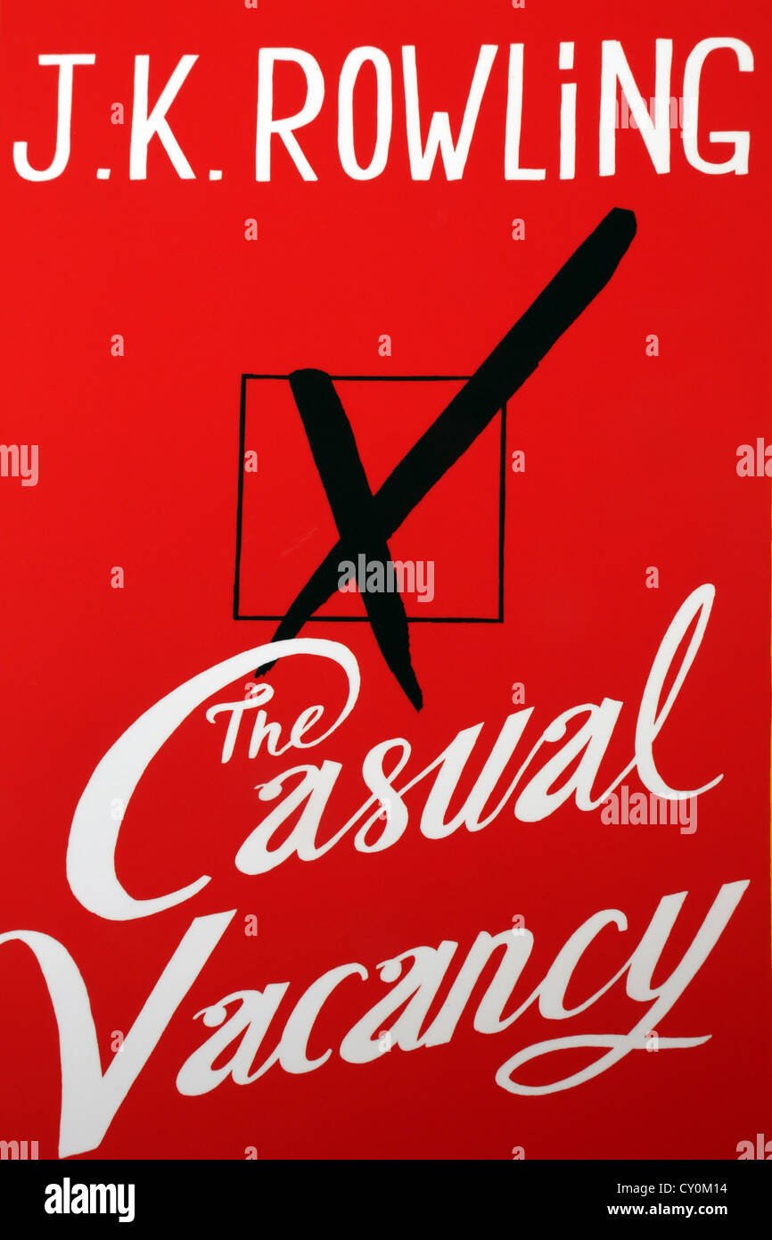Book The Casual Vacancy By J.K Rowling - Stock Image