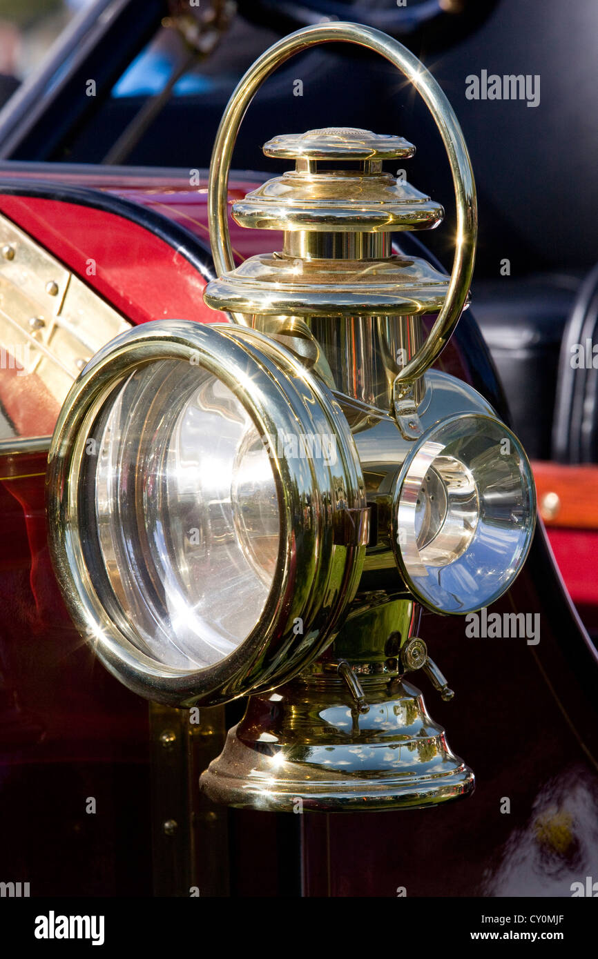 Vintage Brass Car Lamp Stock Photos Vintage Brass Car Lamp Stock