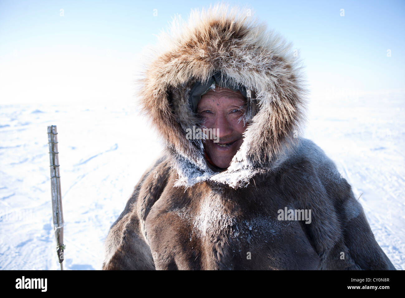 portrait of an Inuit - Stock Image