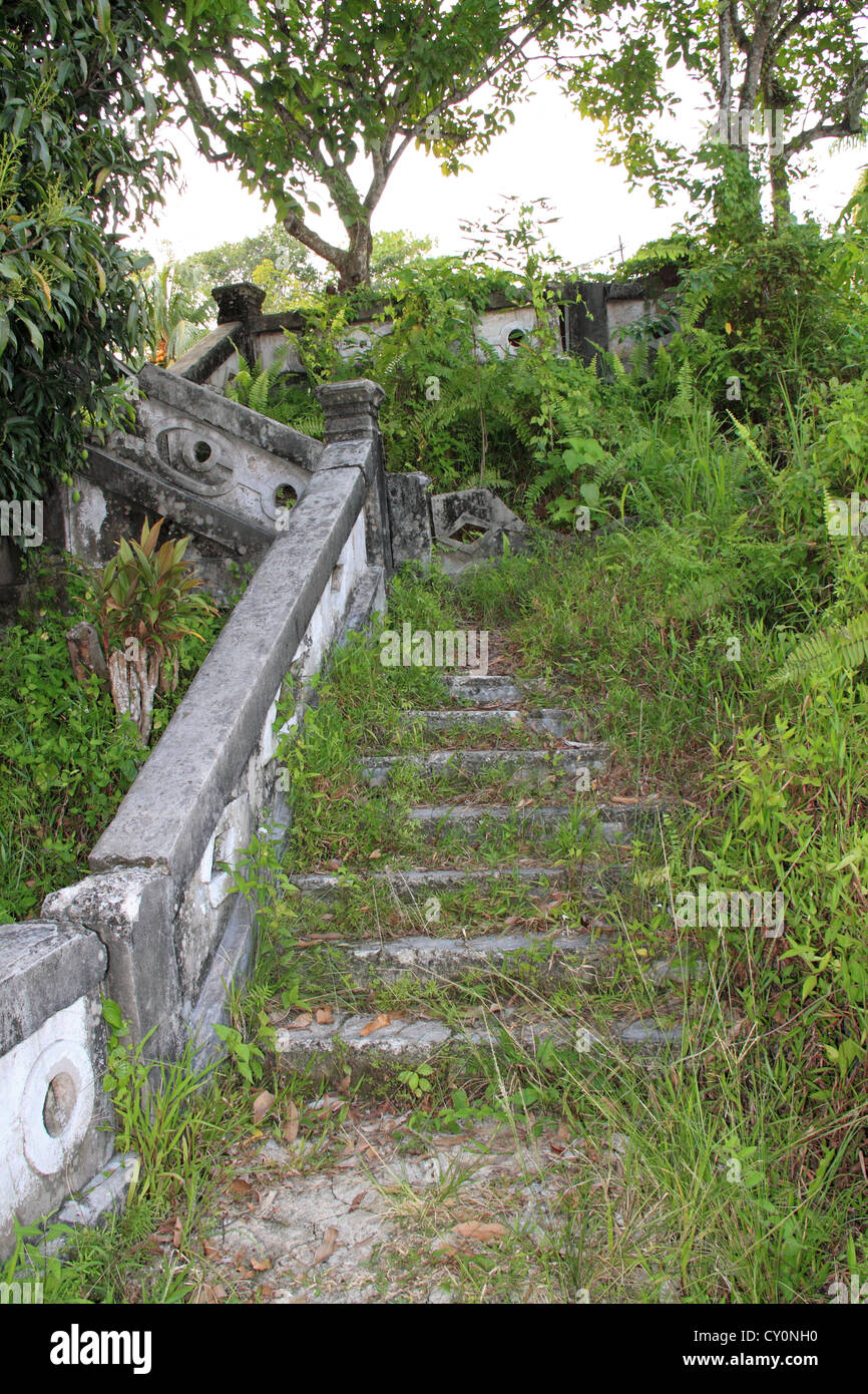 Remains Of Old Staircase, Part Of The Sandakan Heritage Trail, Sandakan,  Sabah, Borneo, Malaysia, Southeast Asia