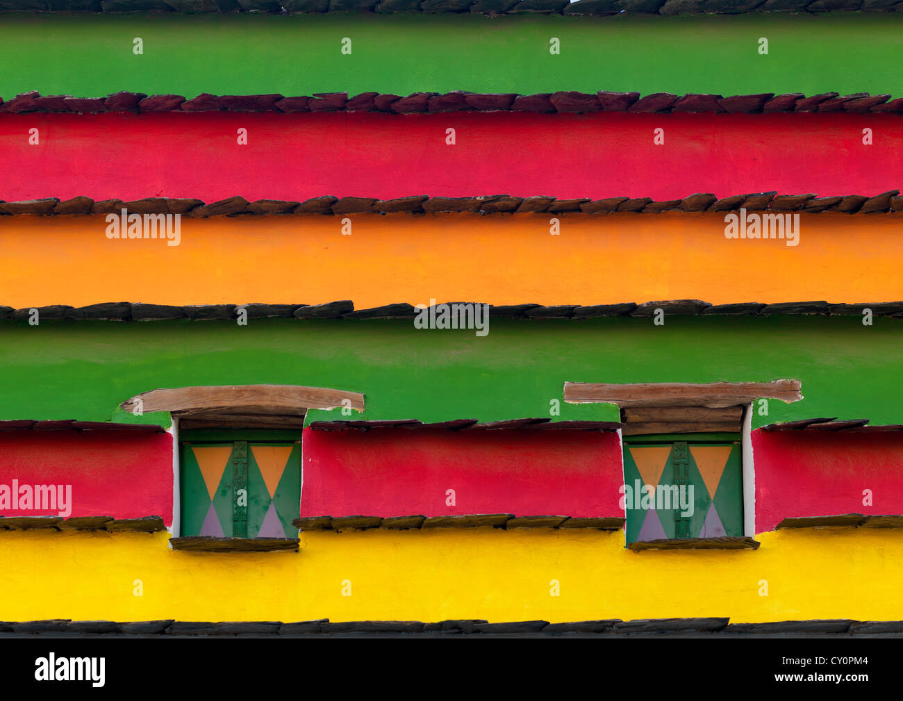 Bin Hamsan House Decoration, Asir Area, Saudi Arabia - Stock Image
