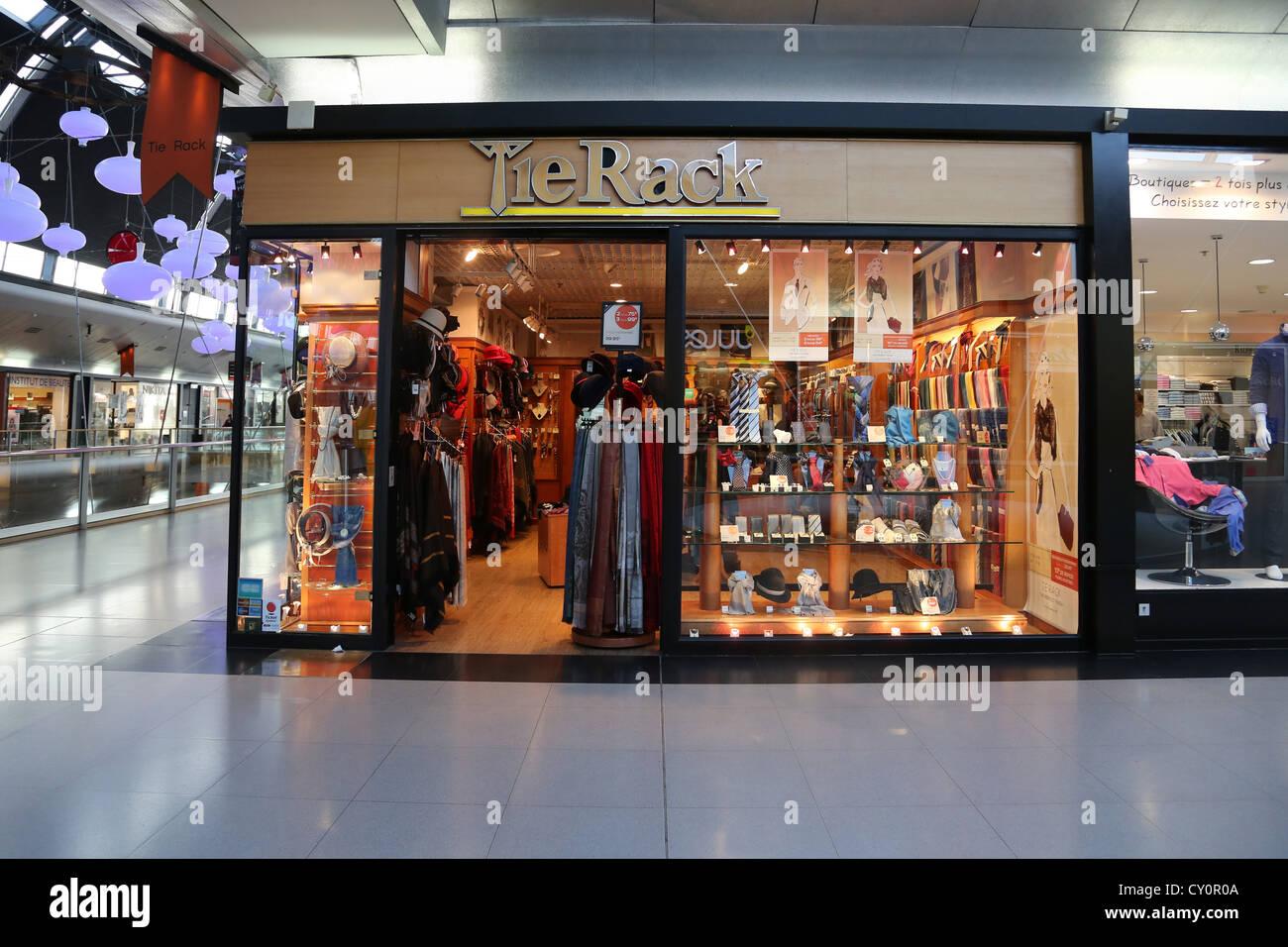 Calais France Cite Europe Tie Rack Accessories Shop Stock Photo ...