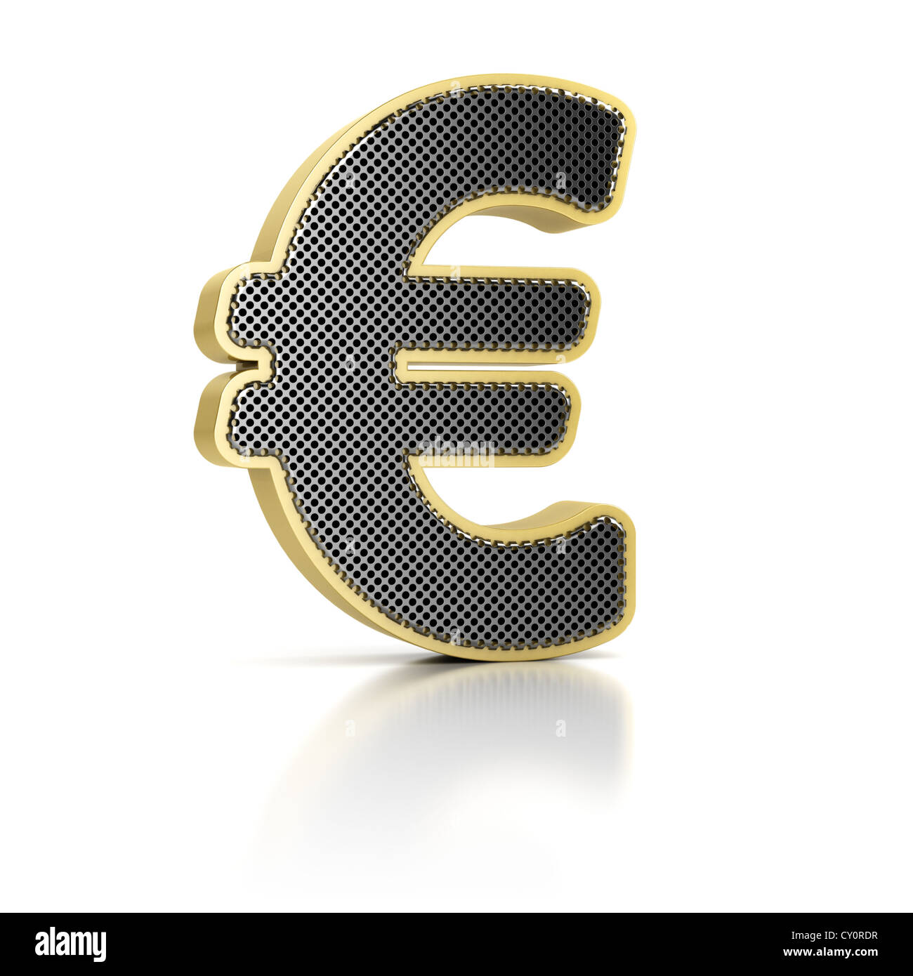 Euro Symbol Perforated Metal Object Stock Photos Euro Symbol