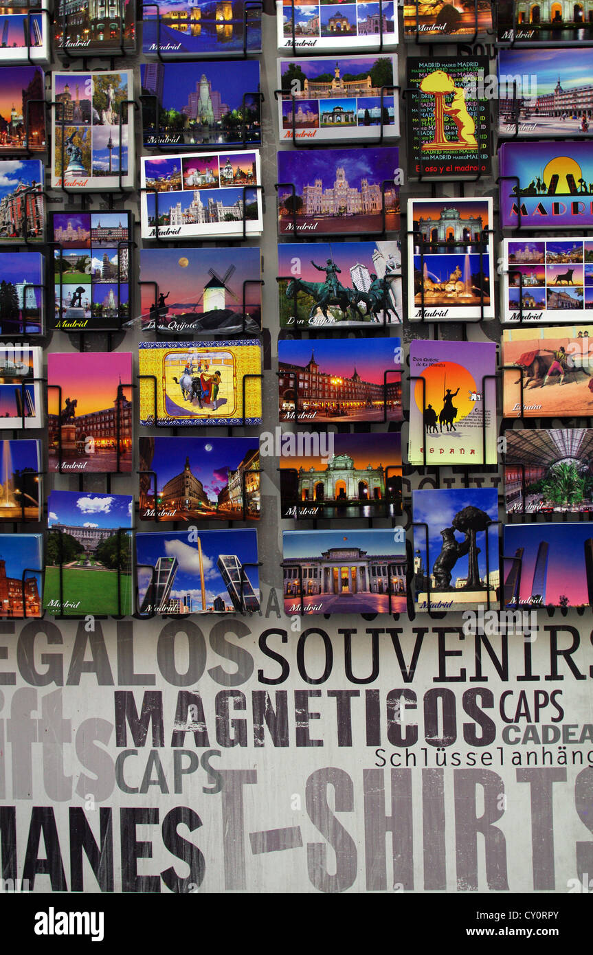 Madrid postcards - Stock Image