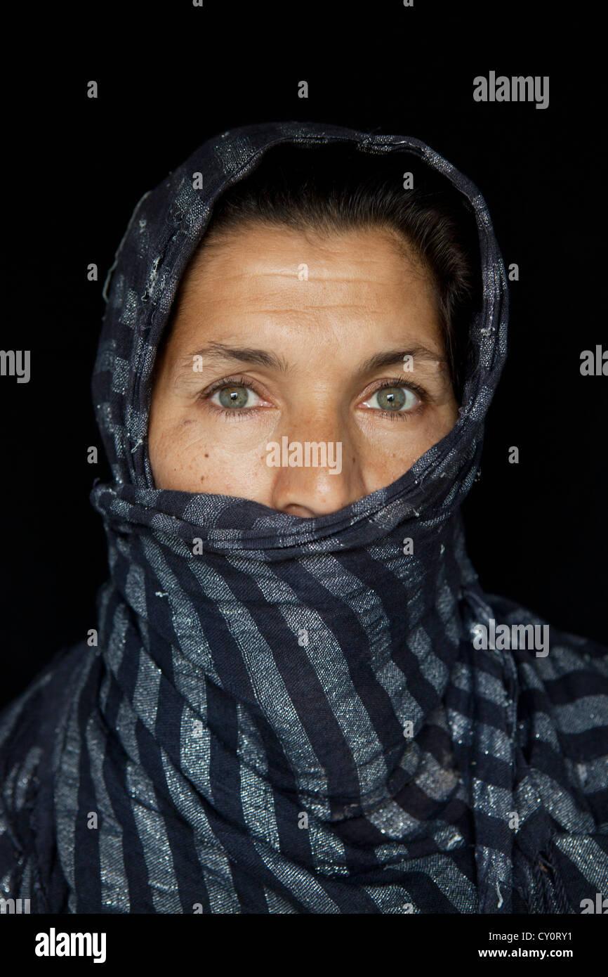 portait of civilians in Kunduz, Afghanistan - Stock Image