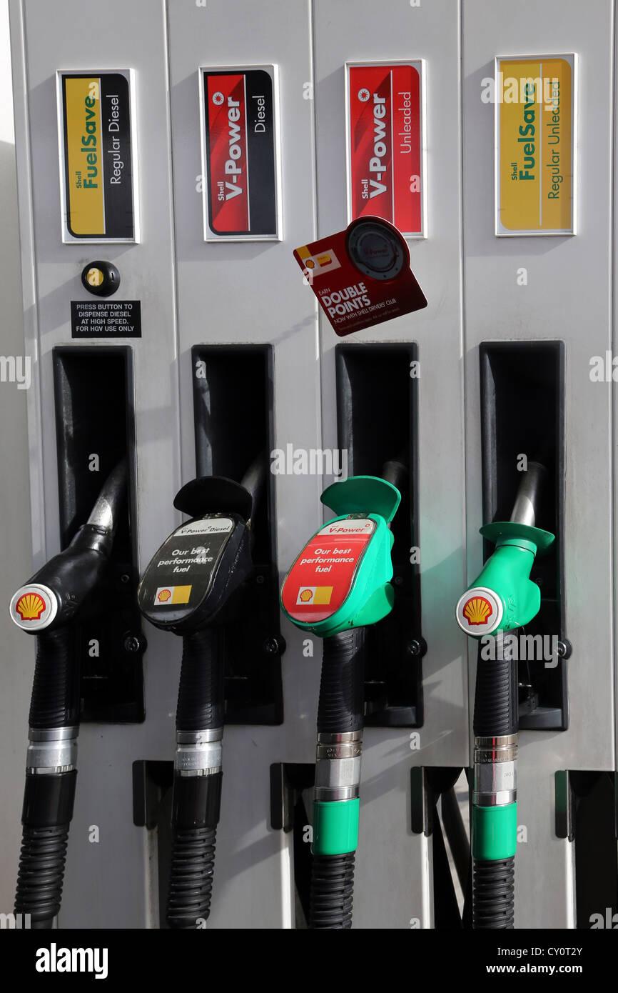 petrol pumps regular diesel diesel unleaded and regular