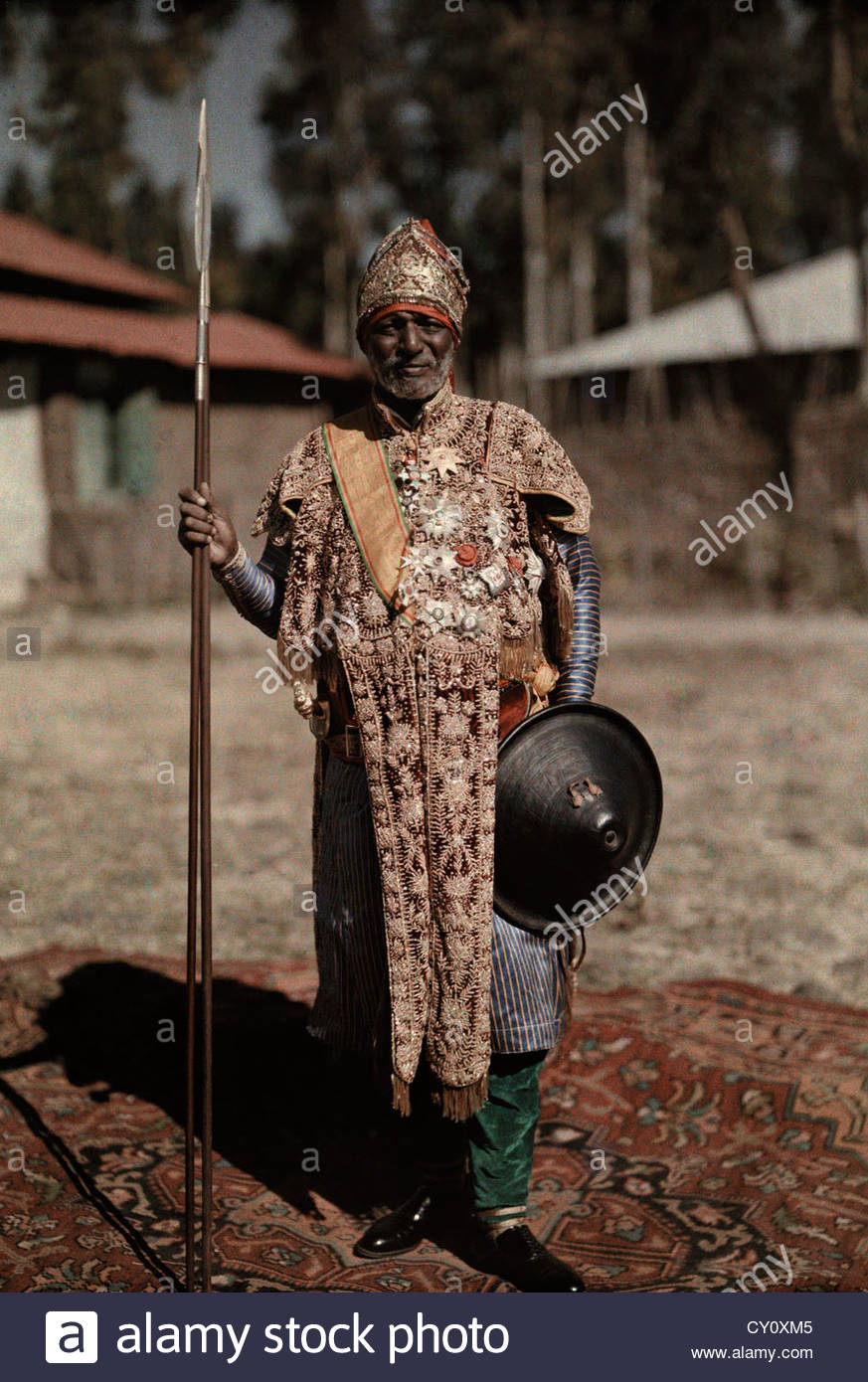 Fetawrari Mou lou Gueta, the Ethiopian Minister of War, is shown here. - Stock Image