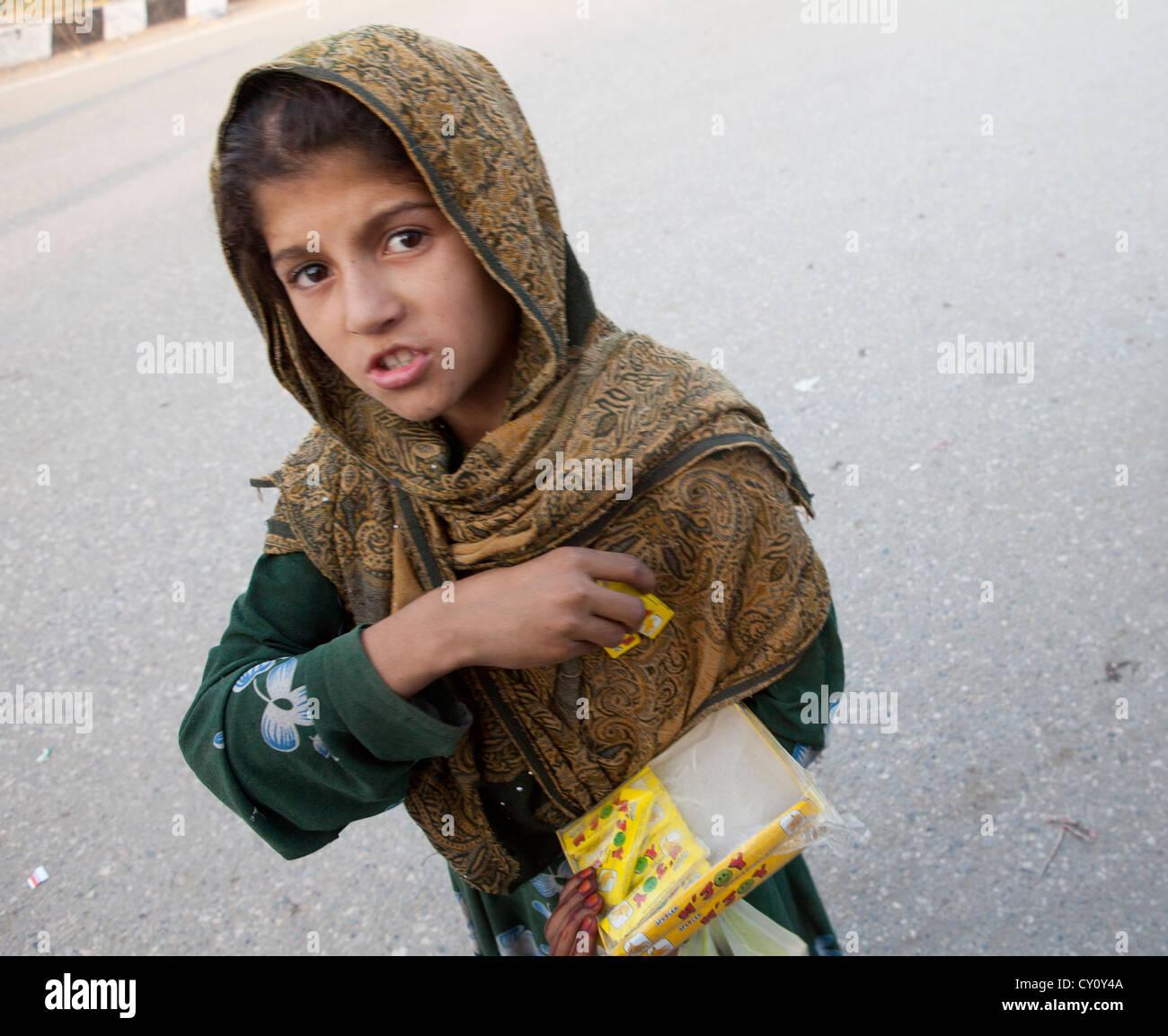beggers in Kunduz town, Afghanistan - Stock Image