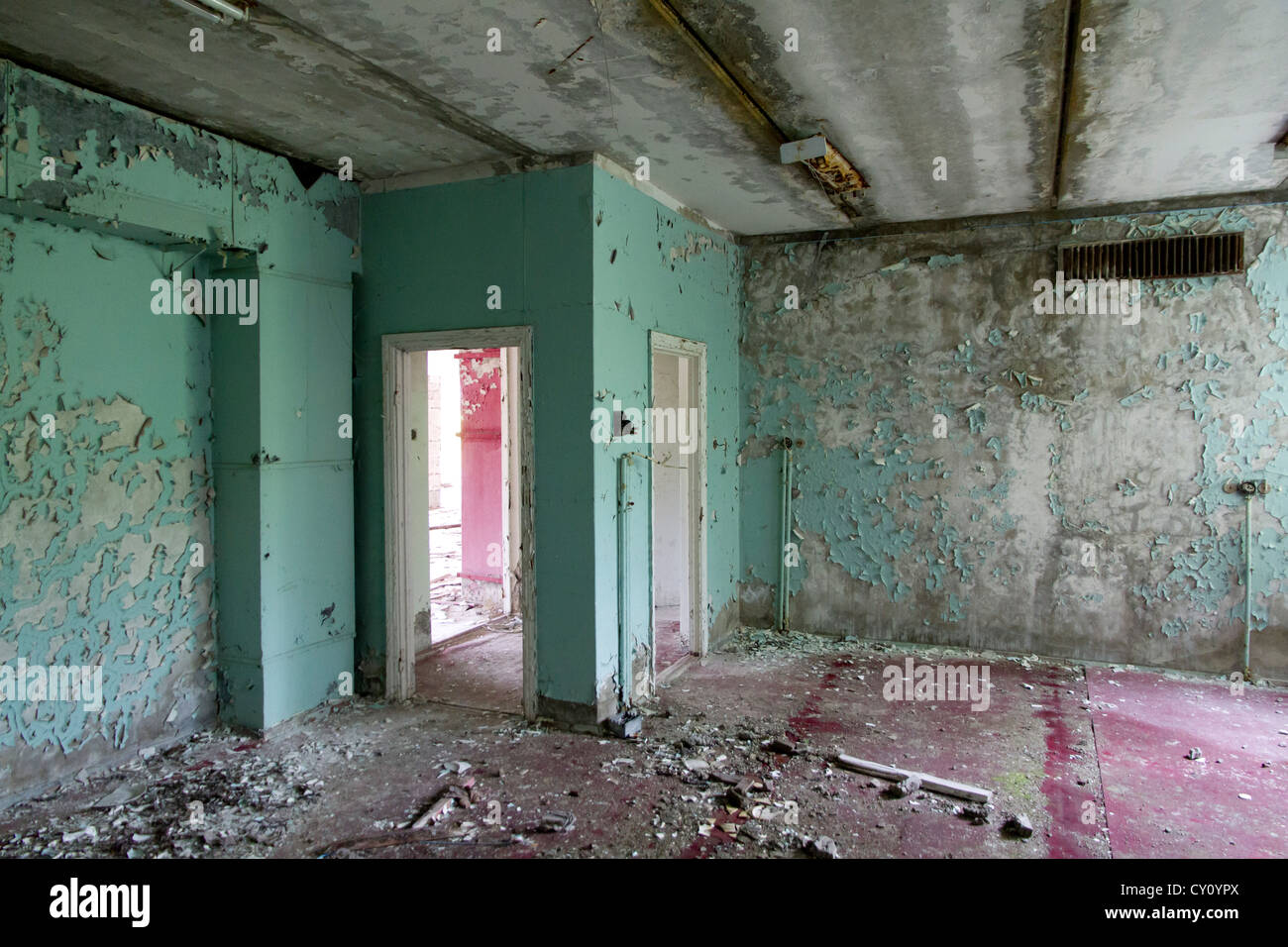 Hotel, Pripyat, Chernobyl Exclusion Zone - Stock Image