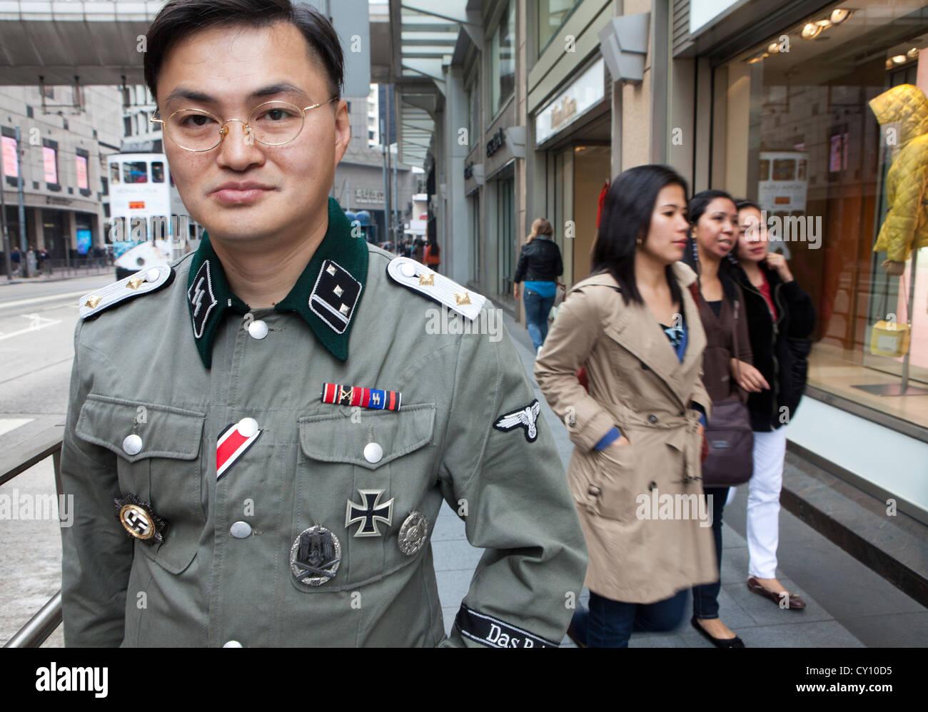 nazi in Hongkong - Stock Image