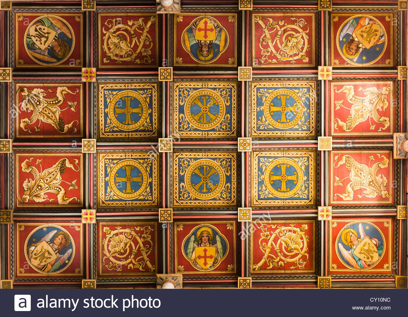 Ceiling panels stock photos ceiling panels stock images alamy painted ceiling tiles from ely cathedral stock image dailygadgetfo Gallery