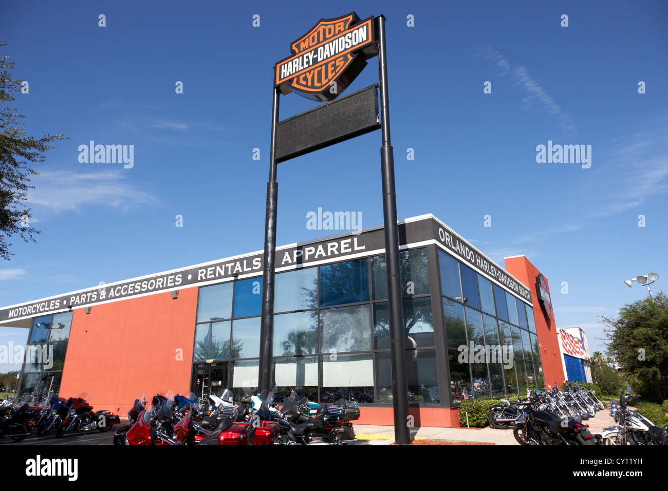 harley davidson dealership orlando florida usa Stock Photo