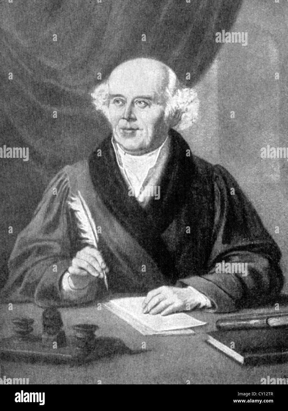 Christian Friedrich Samuel Hahnemann creator of homeopathy. - Stock Image
