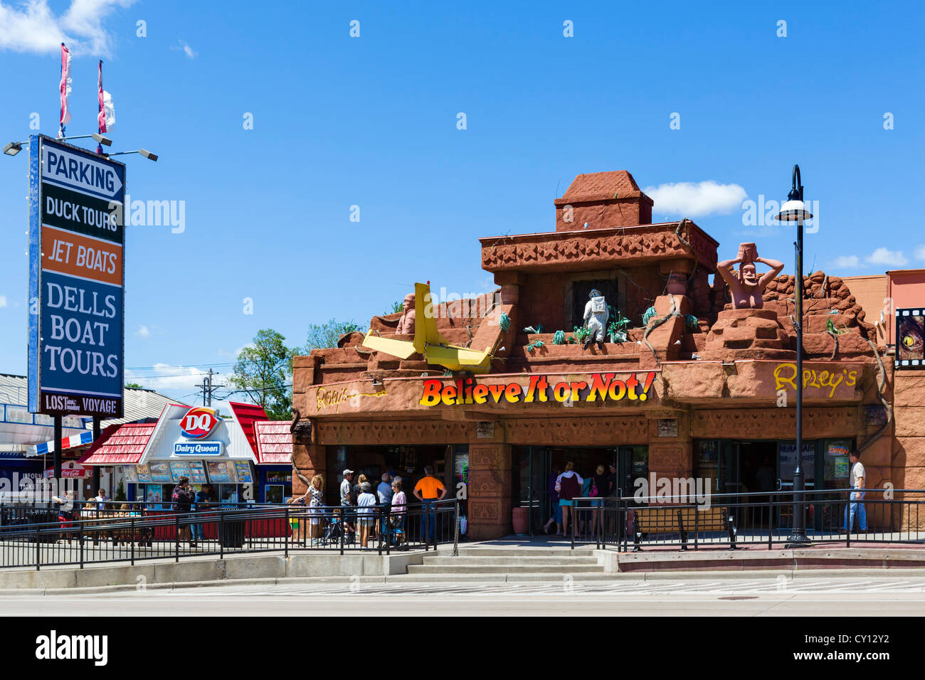 Ripley's Believe It Or Not attraction on Broadway (Main Street) in the popular resort of Wisconsin Dells, Wisconsin, - Stock Image