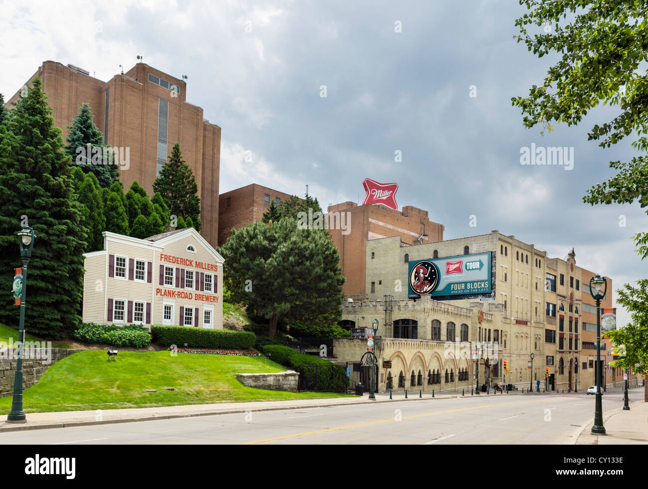 Miller Coors brewery, West State Street, Milwaukee, Wisconsin, USA - Stock Image