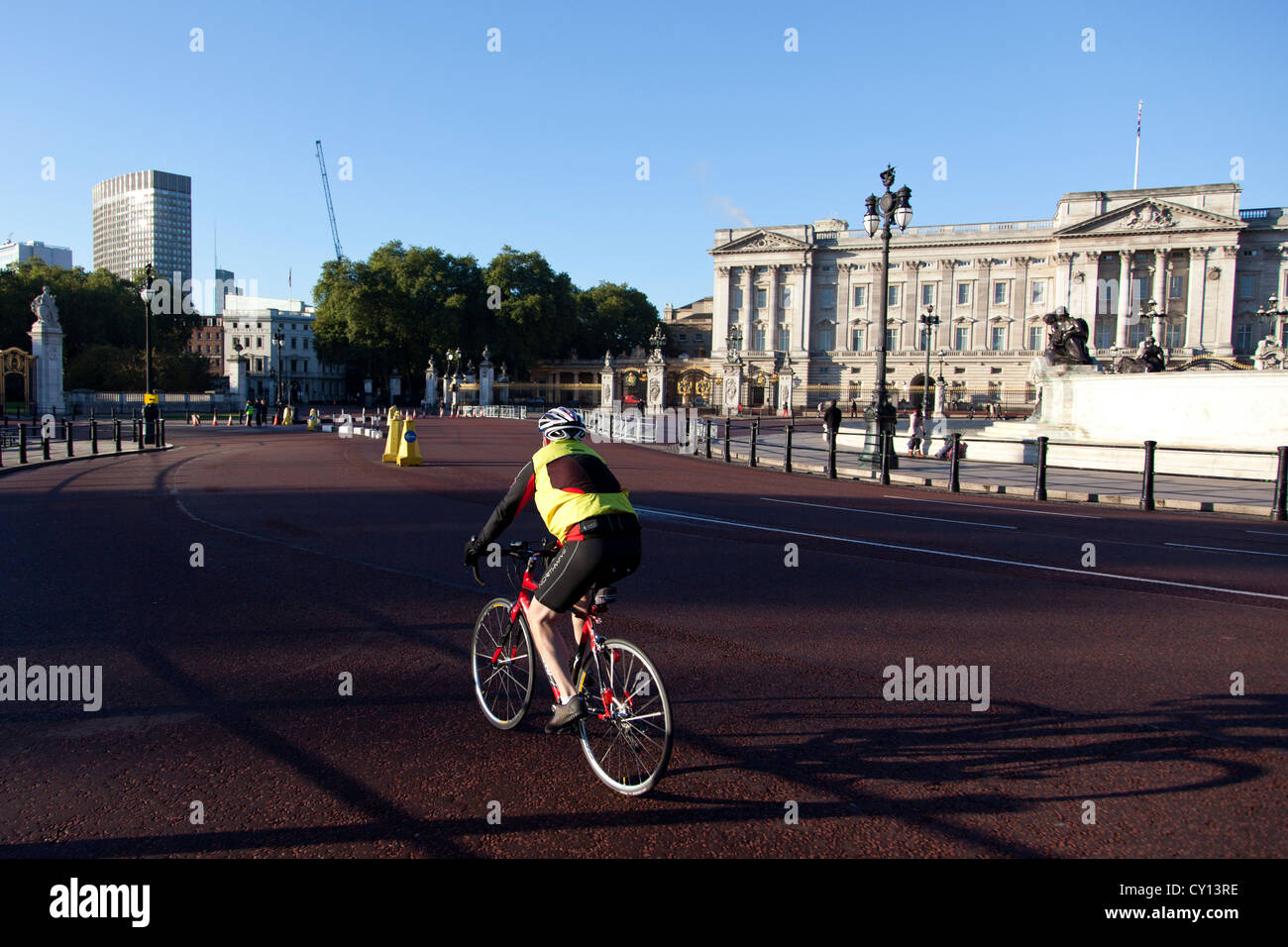 14th Oct 2012,  Prince's Trust Palace To Palace charity bike ride, The Mall, London, UK - Stock Image