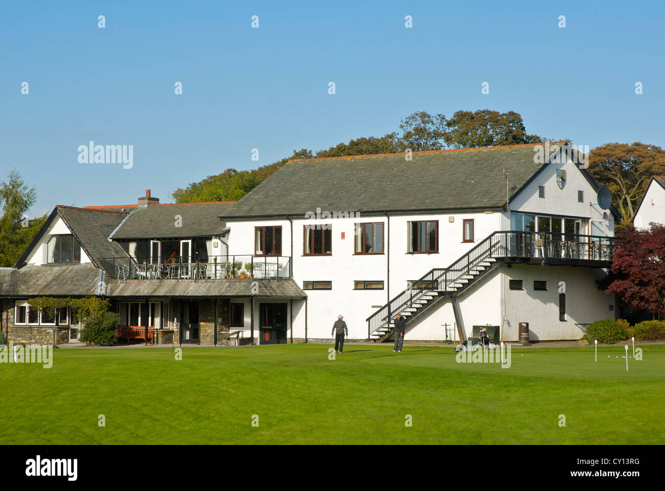 The clubhouse at Windermere Golf Club, Lake District National Park, Cumbria UK - Stock Image