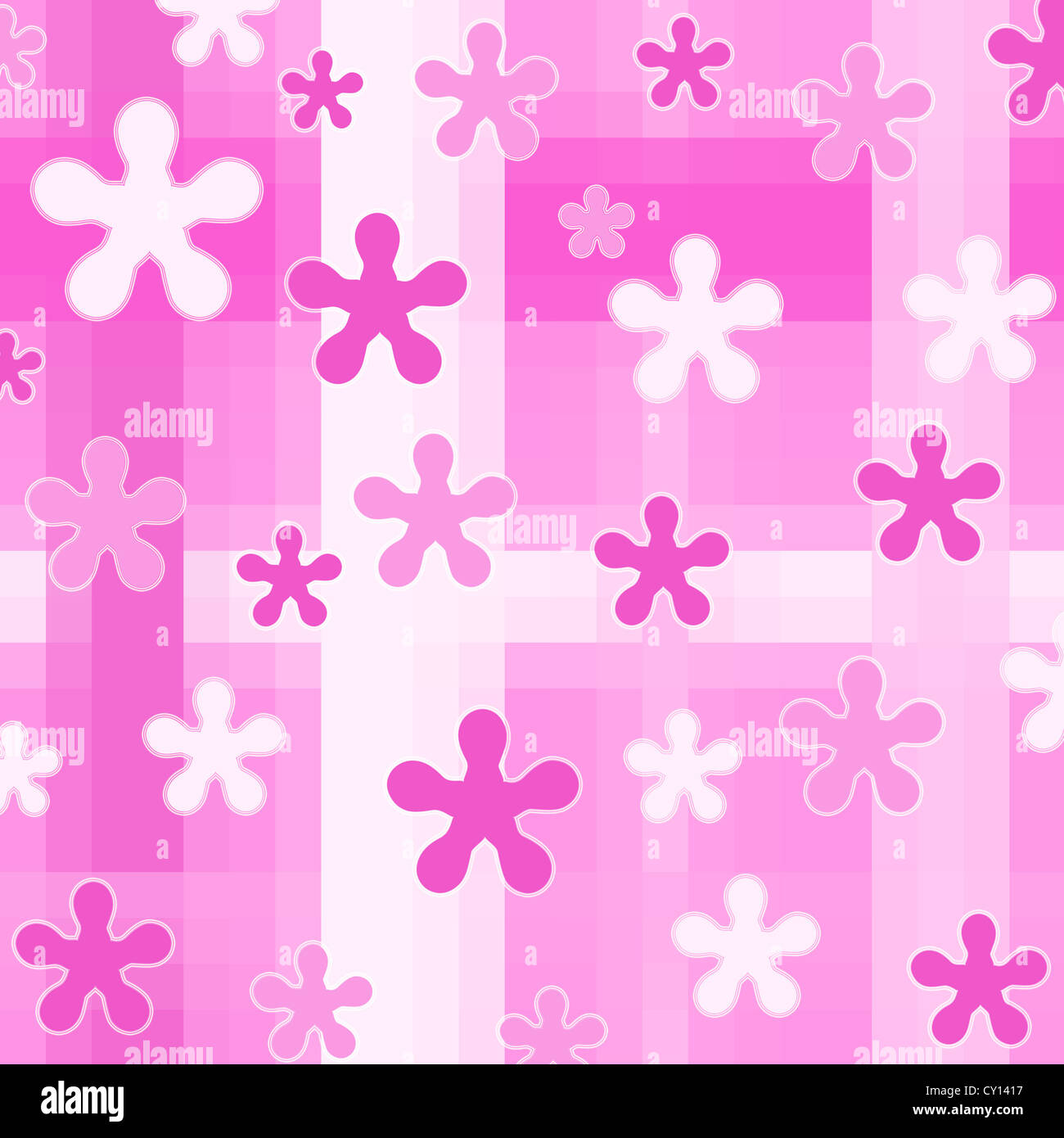 Seamless pink floral pattern Stock Photo