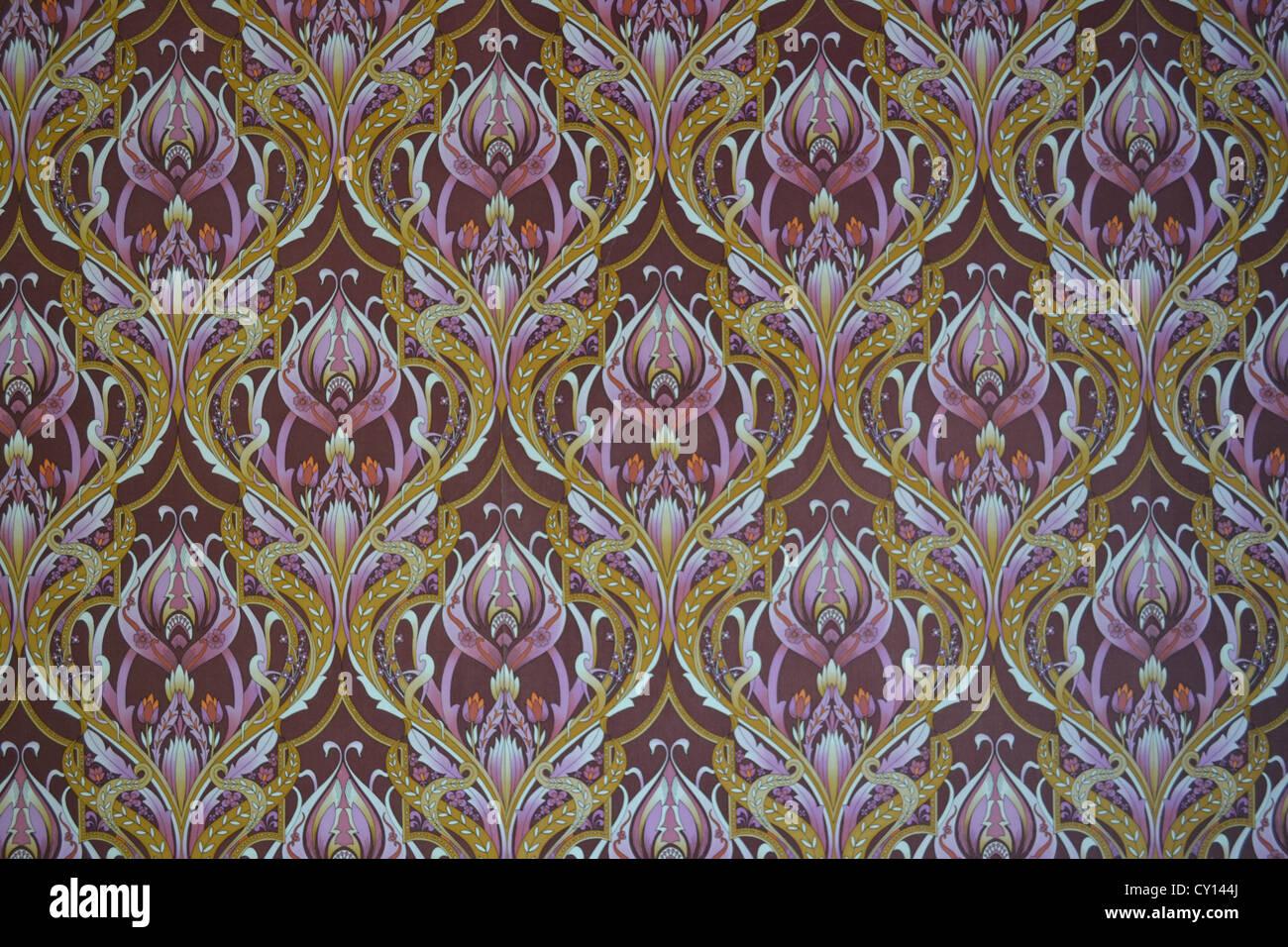 1960s original vintage wallpaper pattern - Stock Image