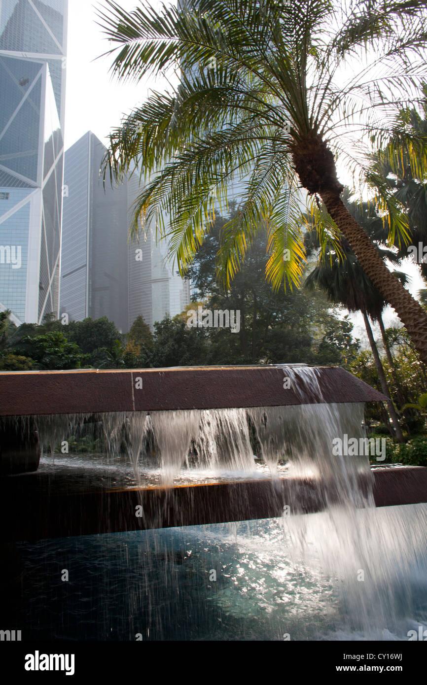 park in downtown Hongkong, China - Stock Image