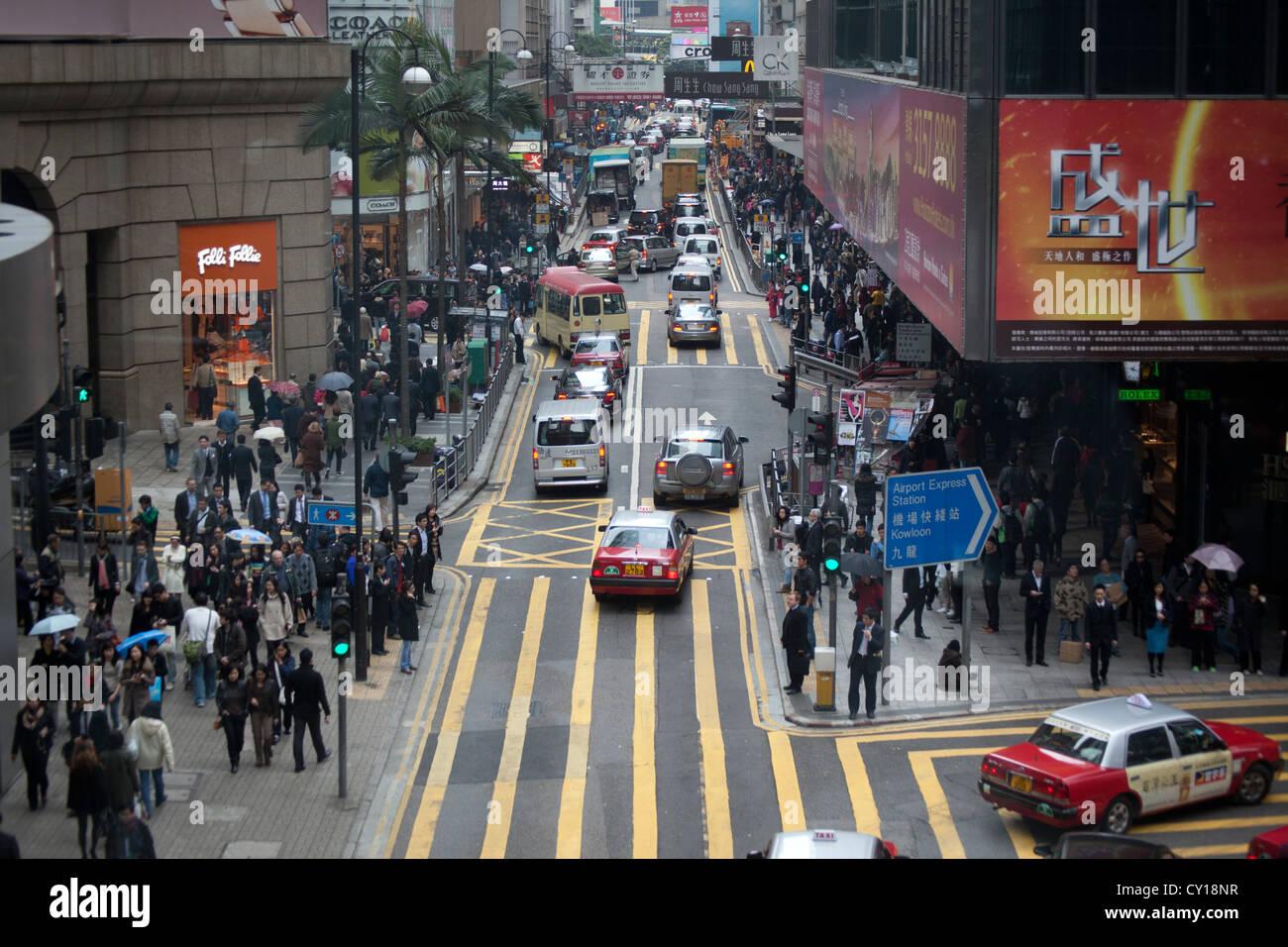 metropole centre China urban chinese town hongkong - Stock Image