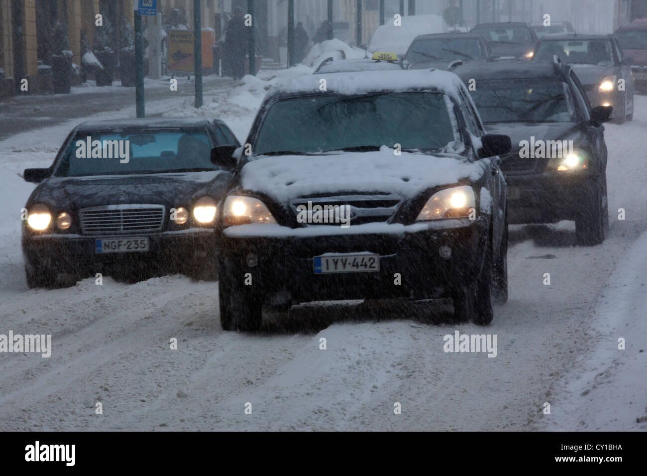 Winter in Helsinki - Stock Image
