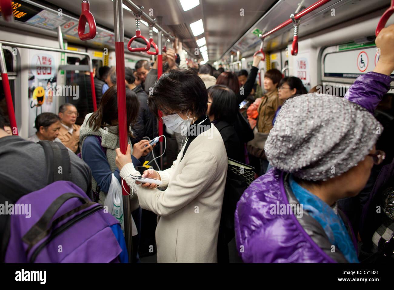 Hongkong subway system - Stock Image