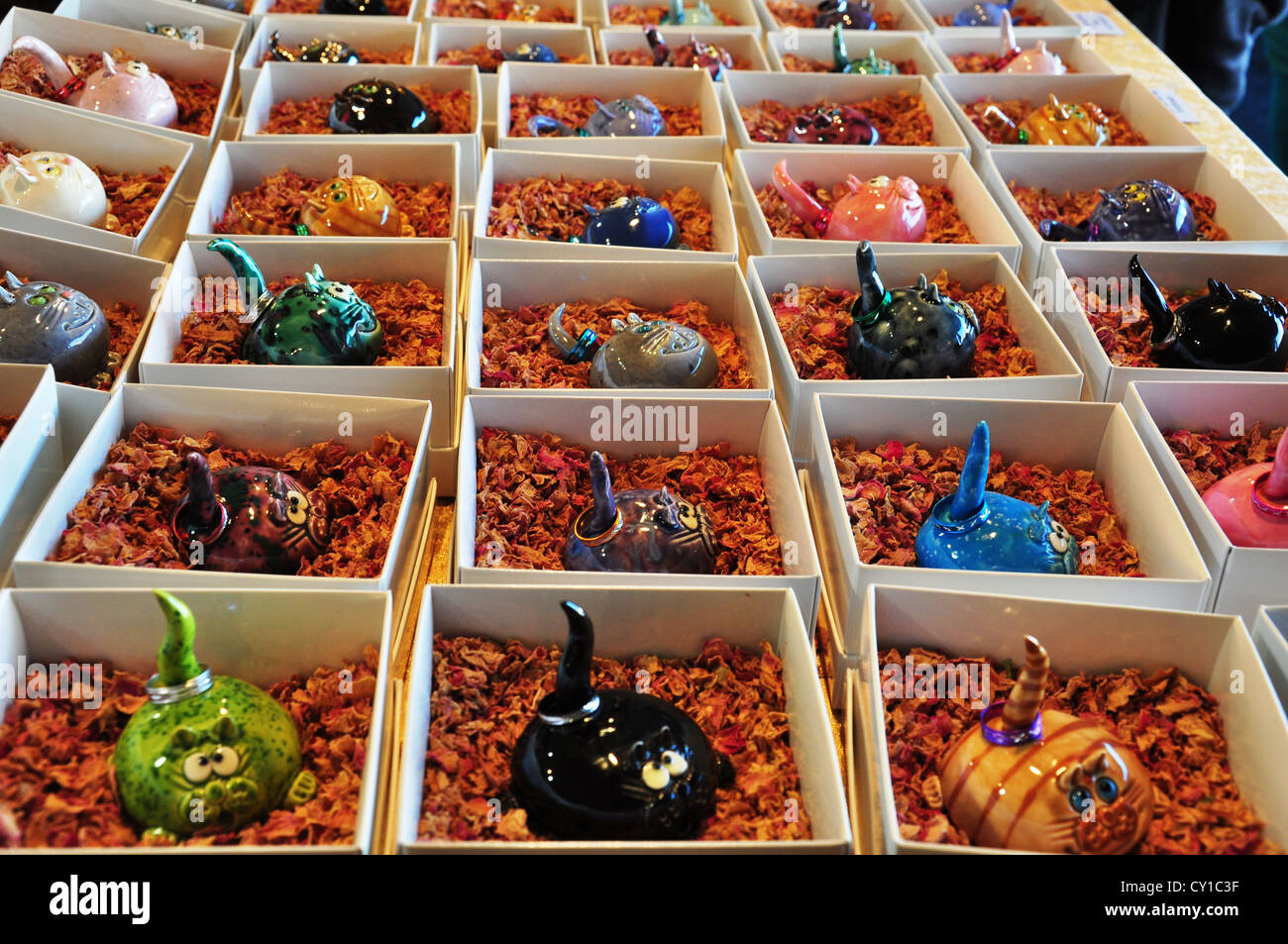 fragrant candles sold in the floriade festival in canberra - Stock Image