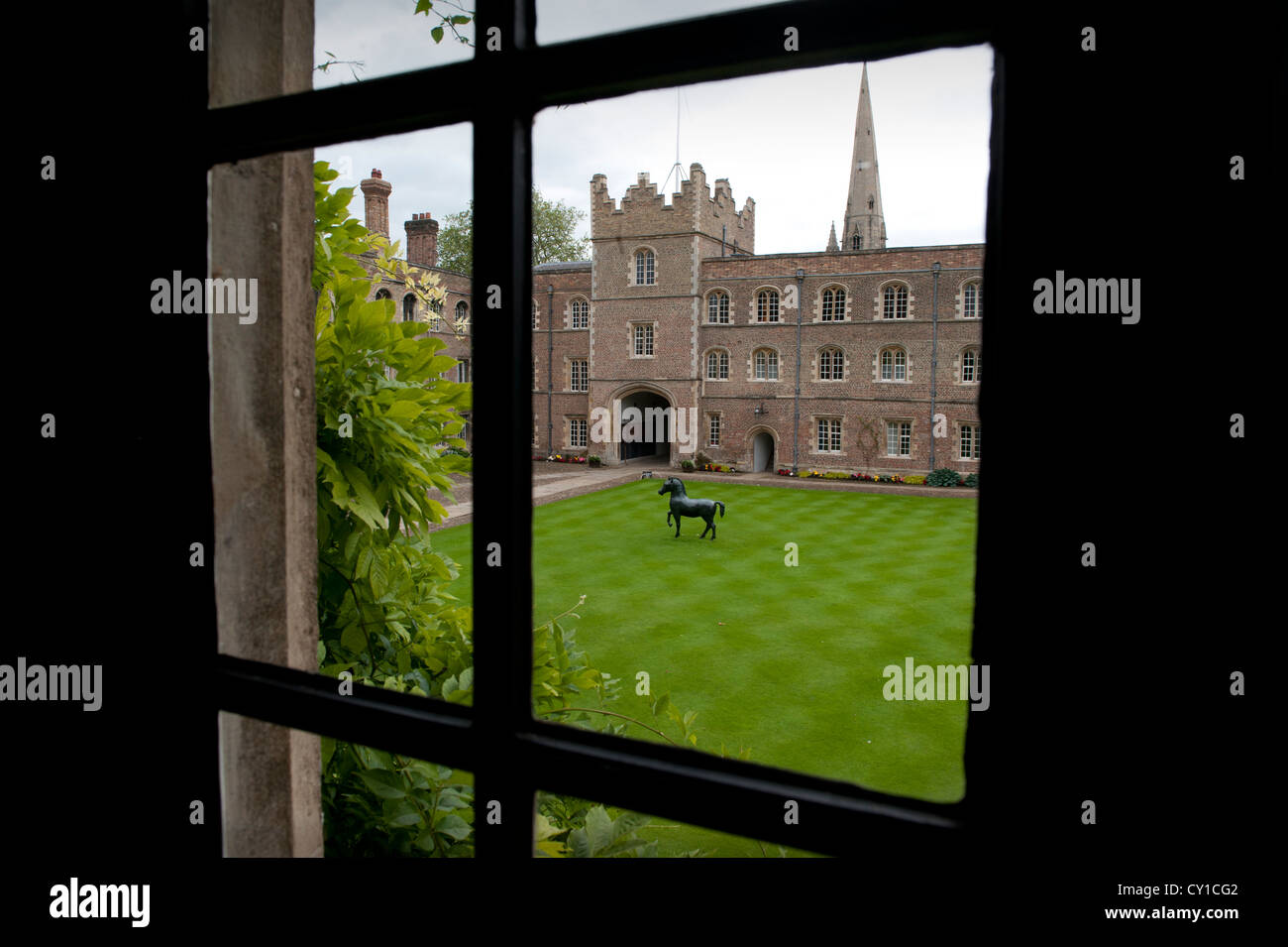 Jesus College in the University City of Cambridge, England. 8-2012 - Stock Image