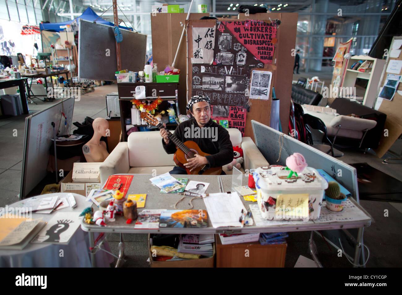 occupy movement in Hongkong Stock Photo