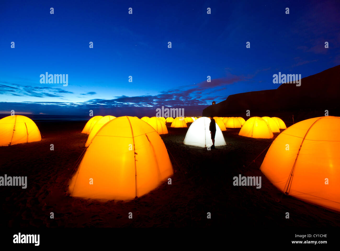 Peace Camp at Mussenden, Co. Derry, Northern Ireland - Stock Image