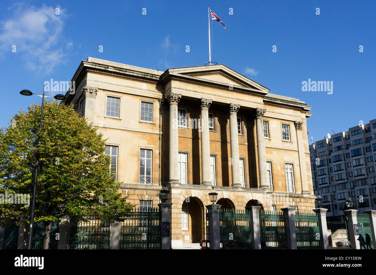 Apsley House at Hyde Park Corner in Central London, known as No 1 London. - Stock Image