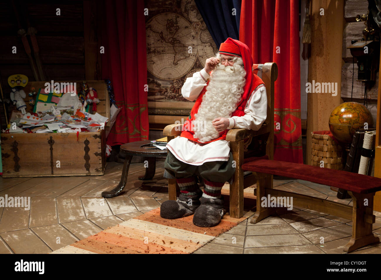 Santa Claus Office In North Finland Stock Photo 51049064