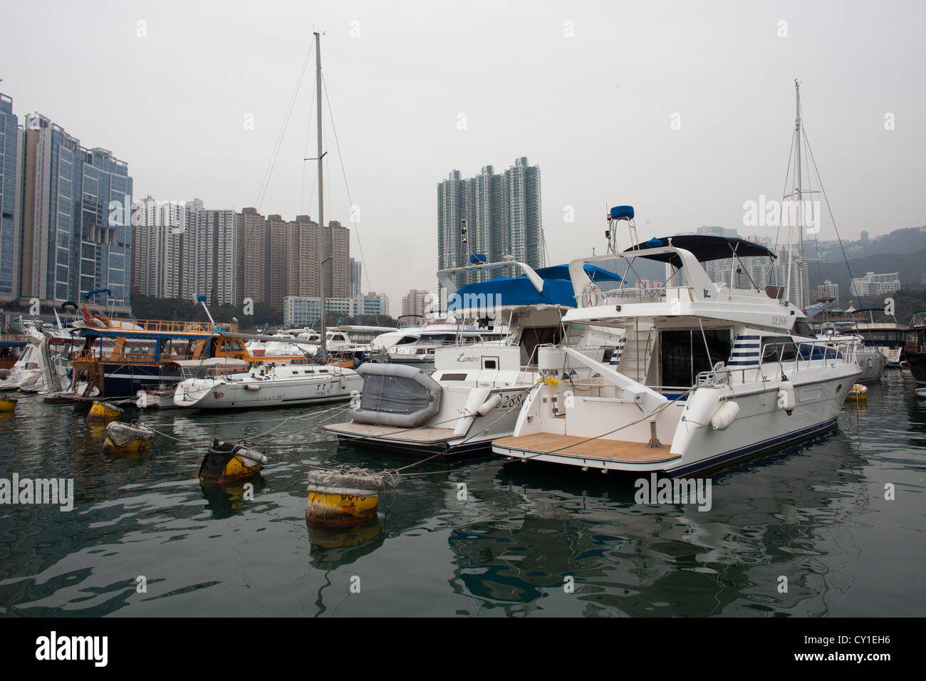 metropole urban city centre town hongkong chinese - Stock Image