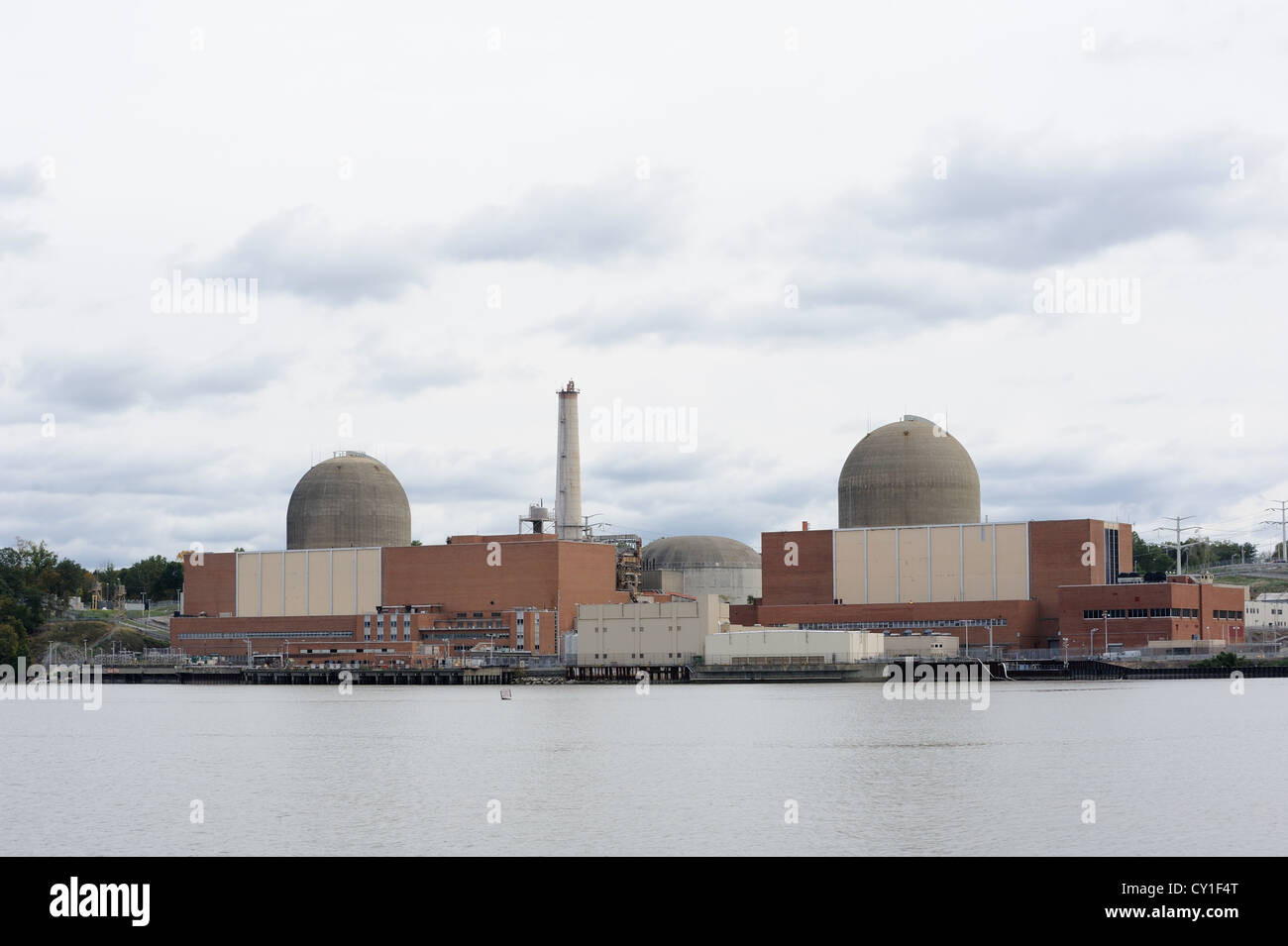 The Indian Point Energy Center is a nuclear facility in Buchanan, N.Y., around 35 miles north of New York City. - Stock Image