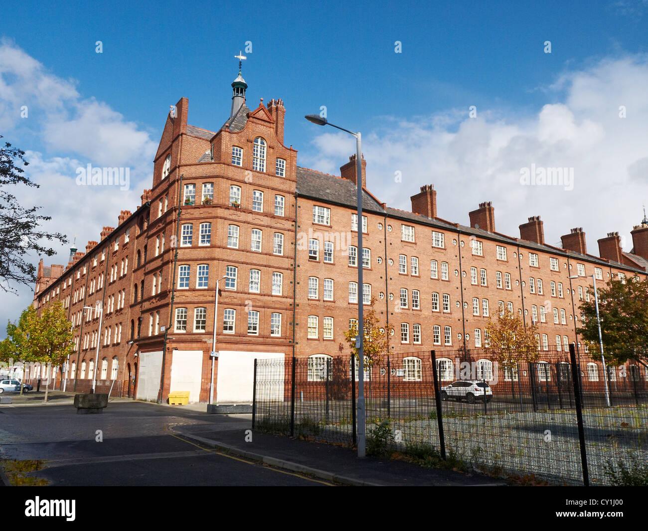 Victoria buildings on Sherratt Street in Ancoats Manchester UK - Stock Image