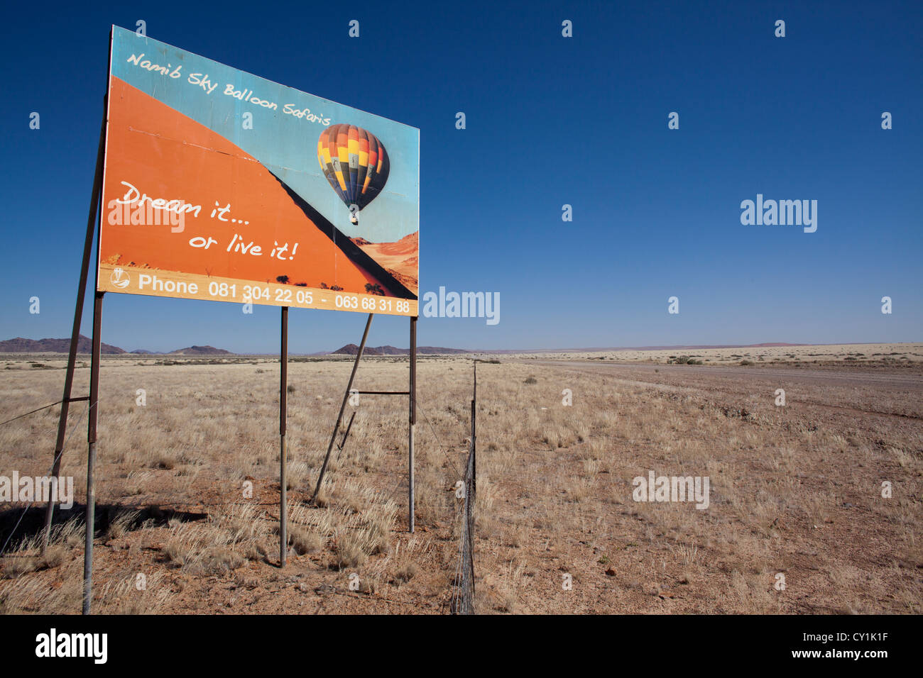 solitair is a small settlement south of Windhoek, namibia - Stock Image