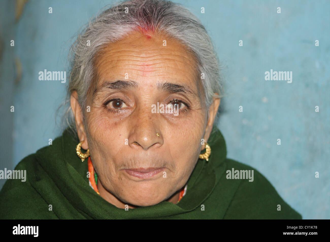 nepali women in sikkim. - Stock Image