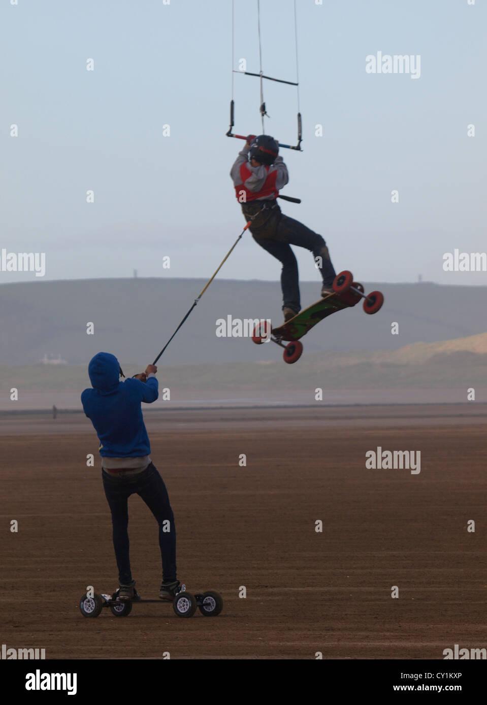 BKSA, British Kitesurfing Association, Westward Ho! 2012, Devon, UK - Stock Image