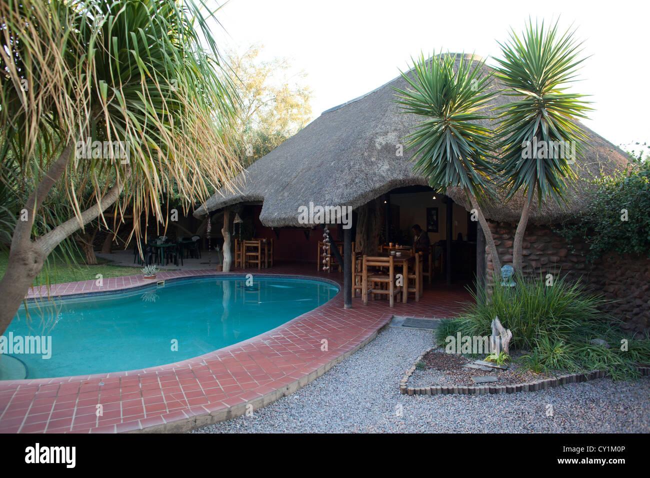 hotel in Opuwo, namibia - Stock Image