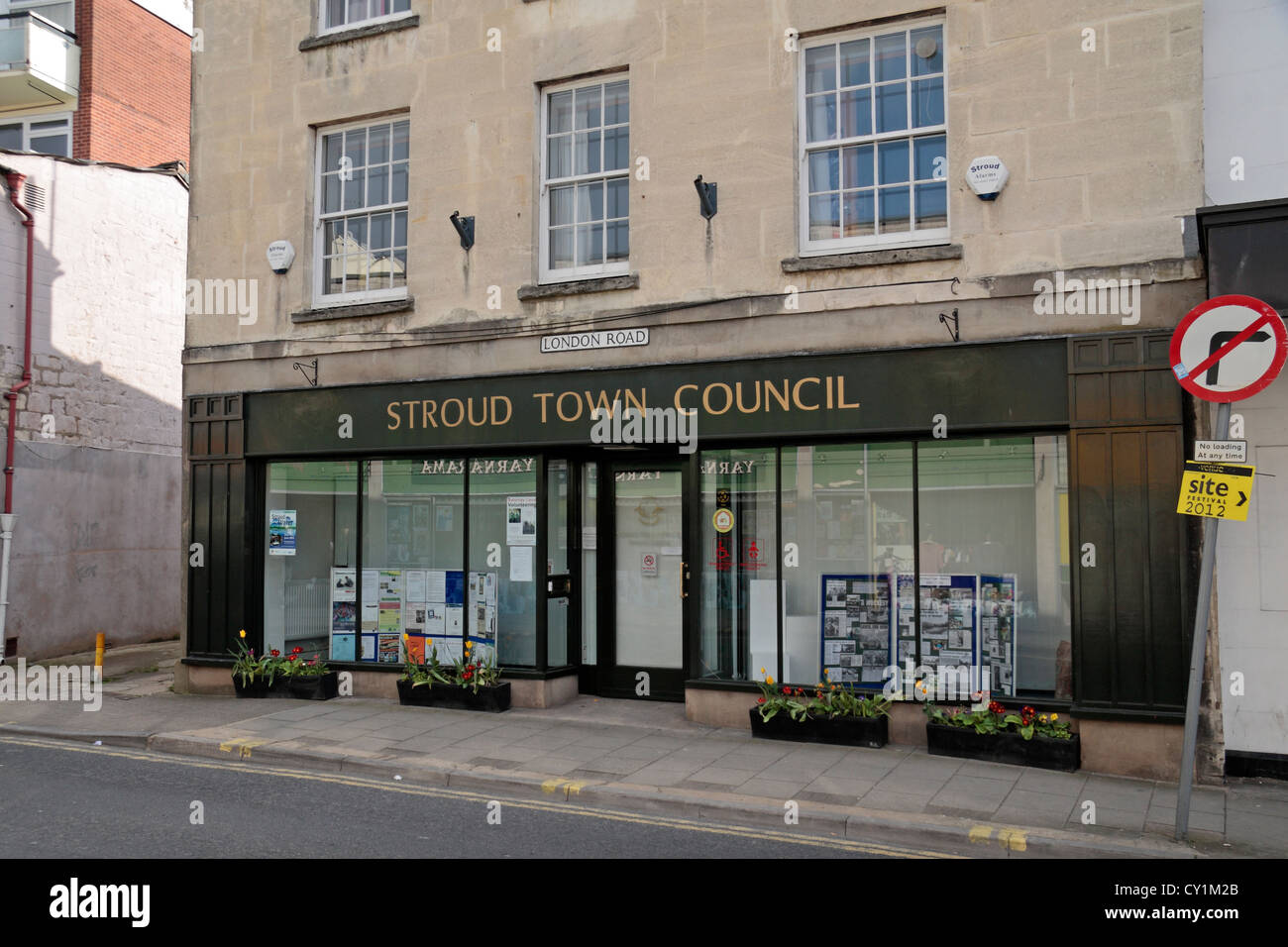 Stroud Town Council Offices, Thanet House, Stroud, Gloucestershire, UK. - Stock Image