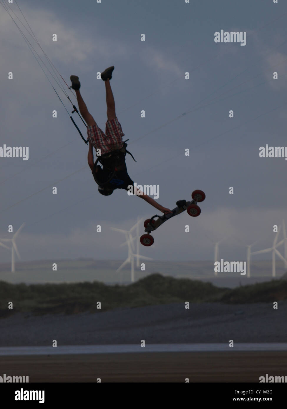 BKSA, British Kitesurfing Associations, Westward Ho! 2012, Devon, UK Stock Photo